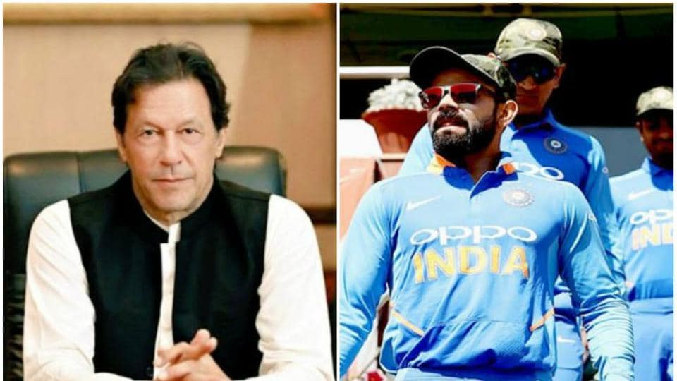 Pakistan PM Imran Khan and India cricket captain Virat Kohli