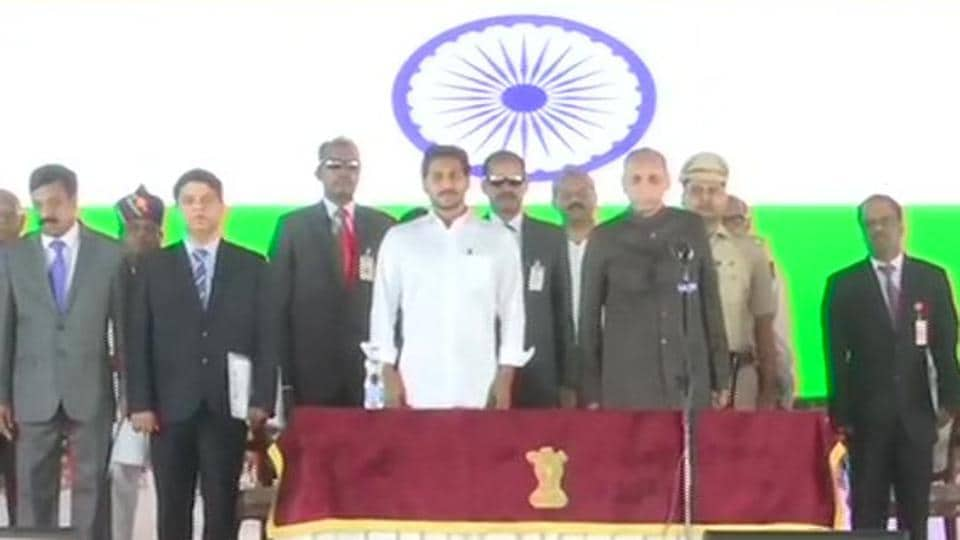 25 new ministers were Saturday inducted into the Y S Jaganmohan Reddy's Council of Ministers in Andhra Prades