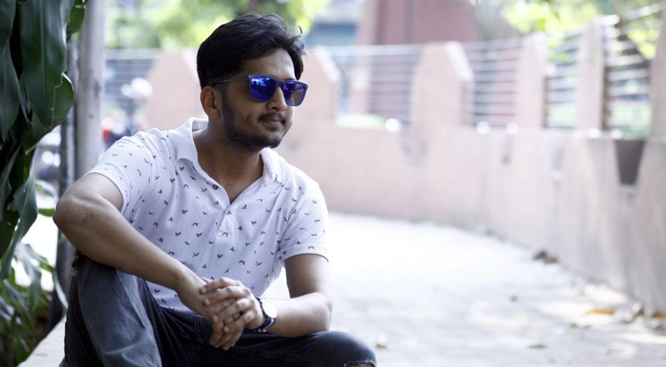 Actor Amey Wagh poses for pictures at Bal Gandharva Rang Mandir, JM Road in Pune