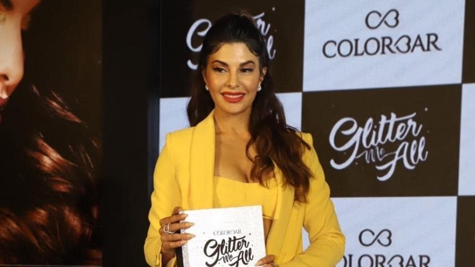 Jacqueline Fernandez during a promotional event in Mumbai on March 28, 2019.