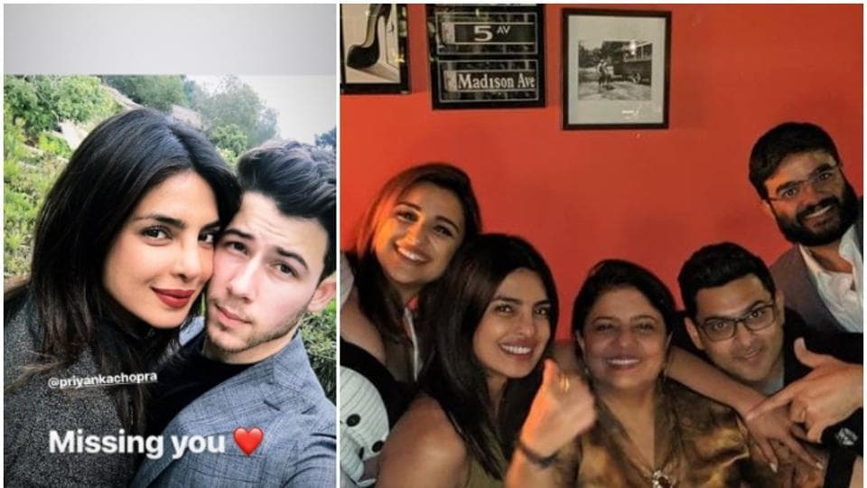 Priyanka Chopra and Nick Jonas posted pictures on Instagram.