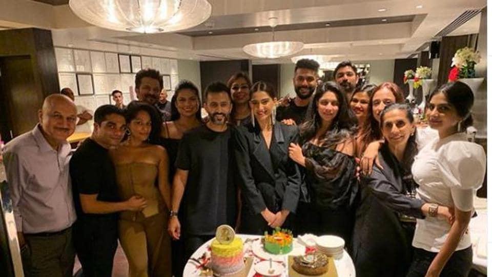 Sonam Kapoor at her birthday party in Mumbai.