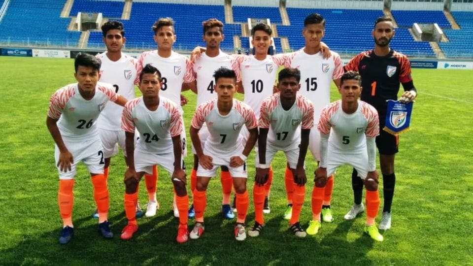 Akash Mishra's perfectly-placed header earned India a 1-1 draw against Bulgaria.