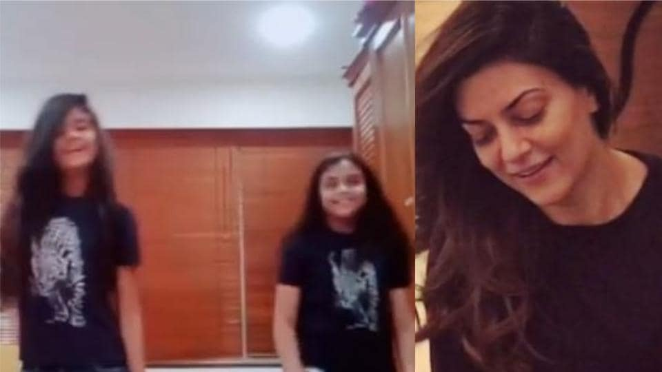 Sushmita Sen often routinely shares videos and pictures of her daughters Renee and Alisah.