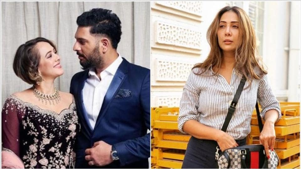 Hazel Keech has shared a post for her husband Yuvraj Singh and Kim Sharma has left a comment.