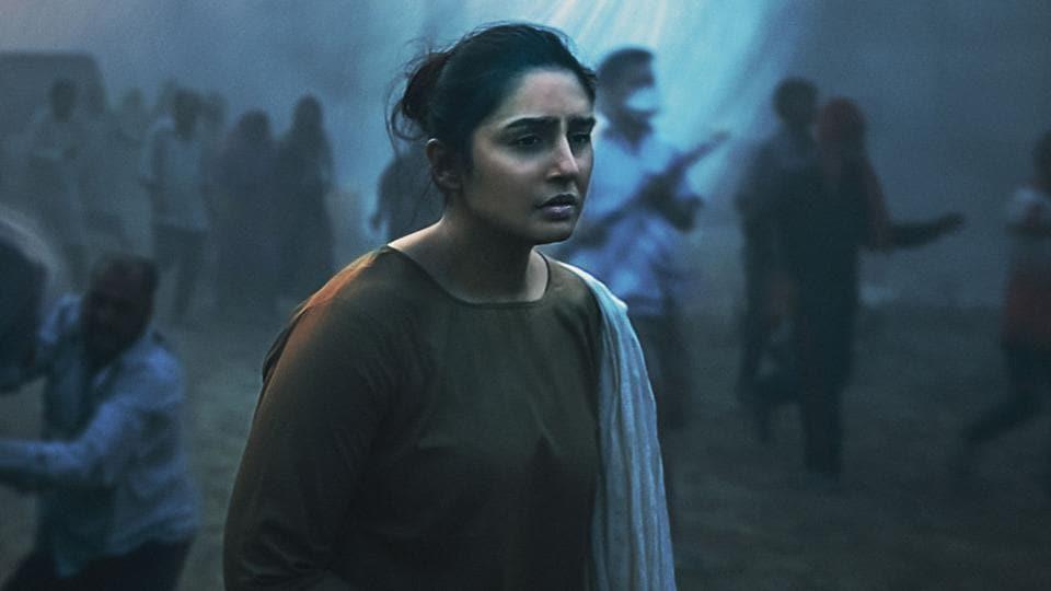Huma Qureshi in a still from Netflix's Leila.