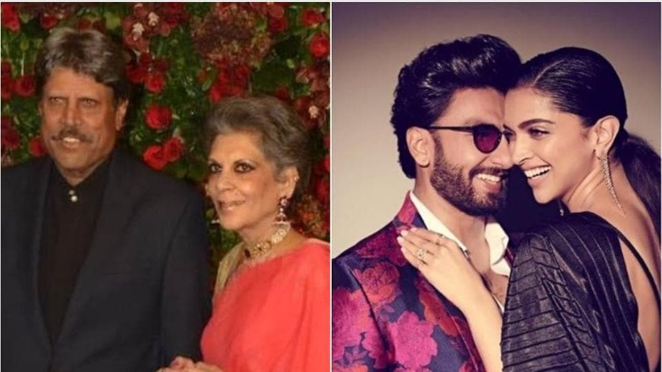 Kapil Dev and Romi attended Deepika Padukone and Ranveer Singh's wedding reception in November.