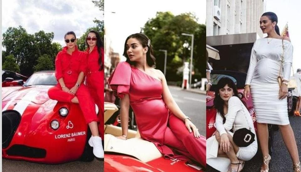 Amy Jackson participates in a car rally with her girl gang.