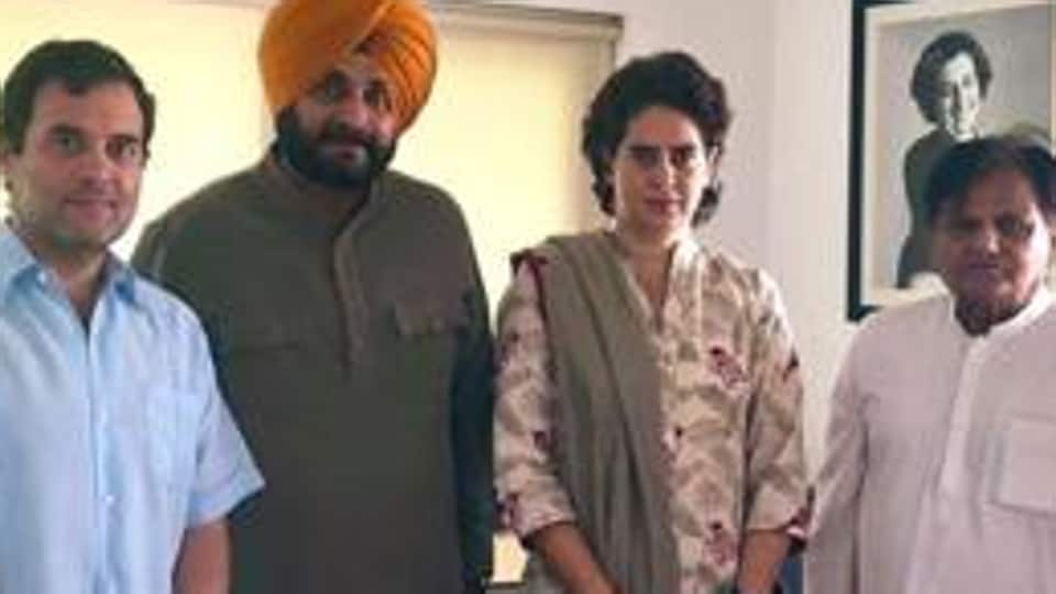 The cricketer-turned-politician also posted a picture in which he seen along with Rahul Gandhi, Congress general secretary Priyanka Gandhi Vadra and senior leader Ahmed Patel.