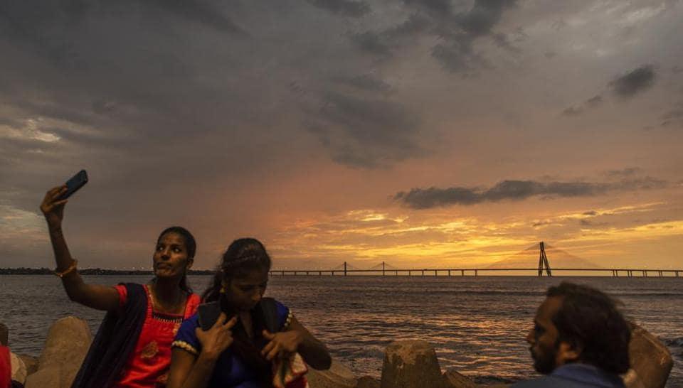 Mumbai received its first thunder shower of the monsoon on Sunday night.