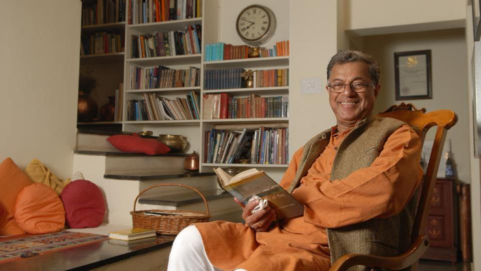 Playwright, actor and movie director Girish Karnad at his residence in Bengaluru, Karnataka. In 1961, at the age of 23, Karnad's first play 'Yayati' was published, based on the life of king Yayati, one of the ancestors of the Pandavas from the Mahabharata. In 1964, his next play 'Tughlaq' was published and Karnad had found a new approach drawing from historical and mythological sources to address contemporary themes. (Hemant Mishra / Mint Archive)
