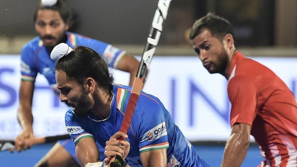 File image of India forward Akashdeep Singh in action during a match.