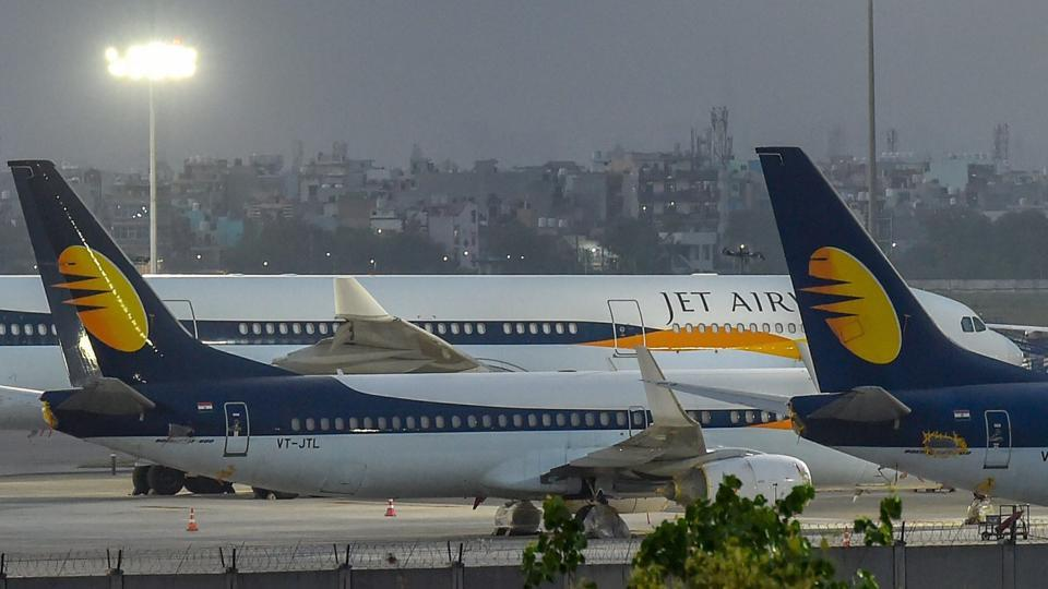 Jet shares, which had shed nearly 69% in one year as of Monday's close, slumped as much as 14.8% to an all-time low of 106.3 rupees.