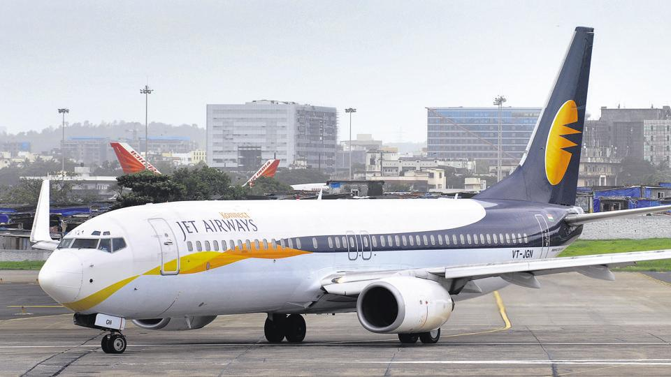 Jet airways Aircraft taxis for take off at Mumbai International Airport in Mumbai, on July 24, 2009. Photograph: ABHIJIT BHATLEKAR/MINT