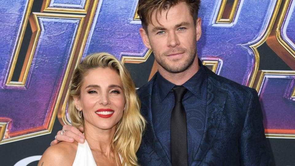Australian actor Chris Hemsworth and his wife Spanish actor Elsa Pataky arrive for the World premiere of Marvel Studios' Avengers: Endgame.