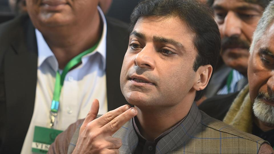 Opposition leader in Pakistan's Punjab assembly, Hamza Shehbaz, was arrested on Tuesday inside the Lahore high court in cases related to money laundering and holding assets beyond means, media reported.