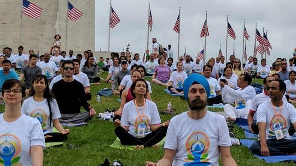 The mission in Washington has further launched an active promotion campaign which has been successful in getting a record-breaking registration number for the yoga day celebrations.
