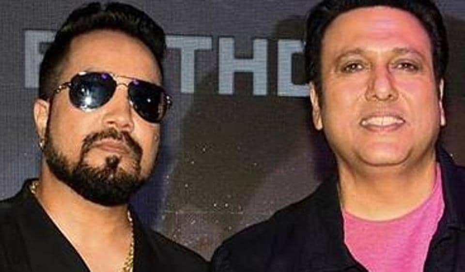 Govinda attends Mika Singh's birthday party at a pub in Mumbai.
