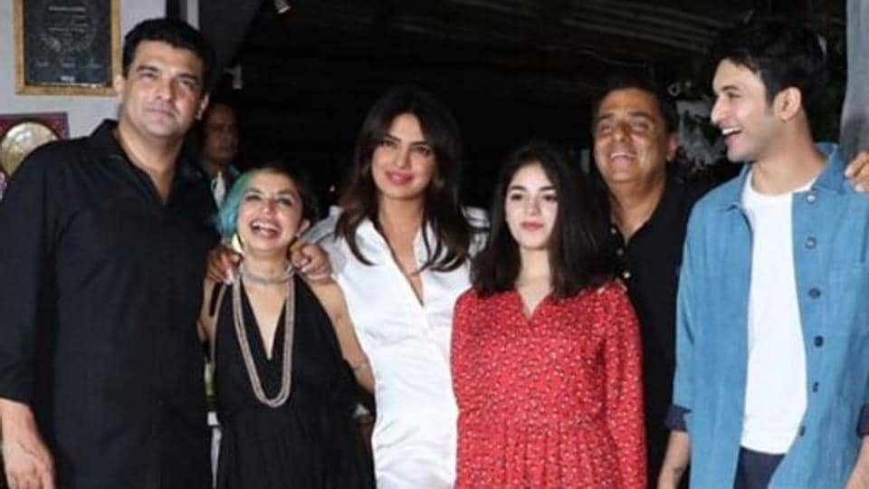 Priyanka Chopra attends wrap party for Bollywood comeback 'The Sky is Pink'