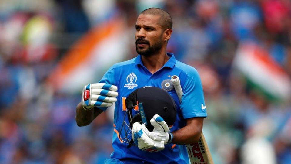 Cricket - ICC Cricket World Cup - India v Australia - The Oval, London, Britain - June 9, 2019 India's Shikhar Dhawan reacts after losing his wicket
