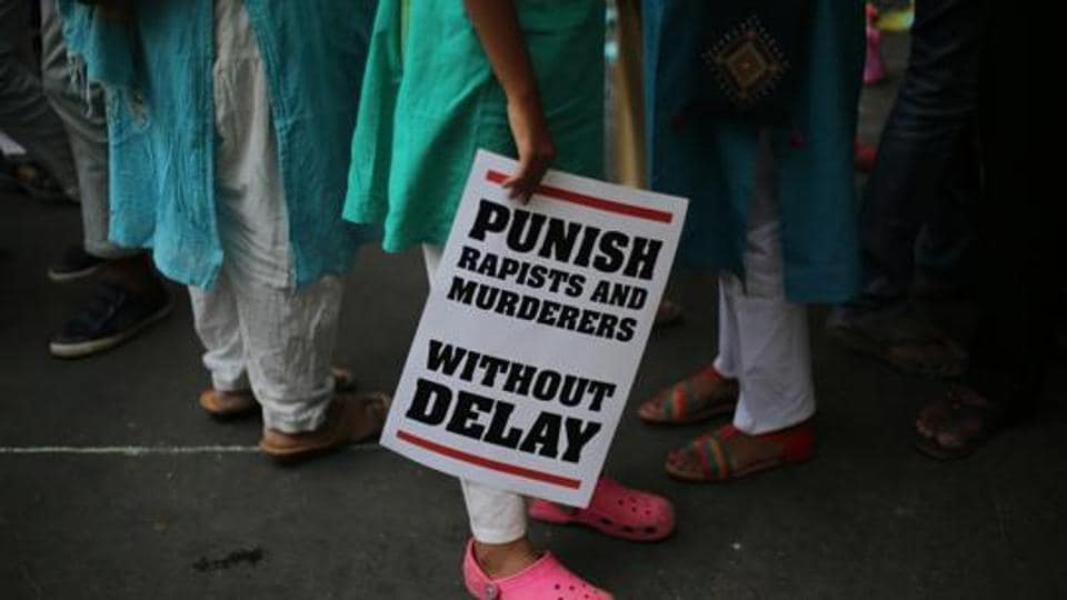 A court in Rajasthan's Alwar sentenced a man to death on Tuesday for raping a 5-year-old and killing the girl by crushing her head with stone.