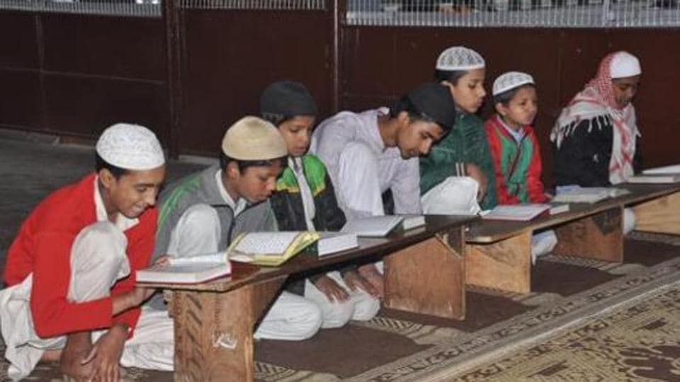 File photo of students reading in Madarsa