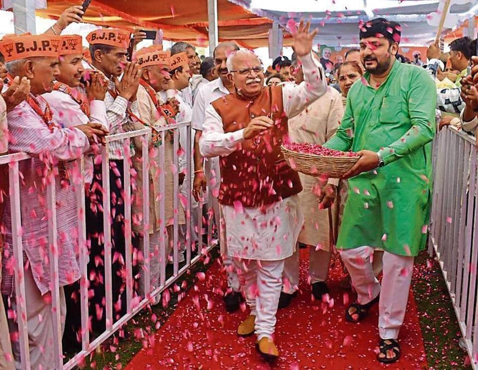 manohar lal khattar,panna pramukhs,haryana polls