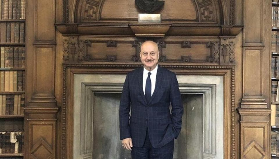 Anupam Kher spoke at Oxford Union in London