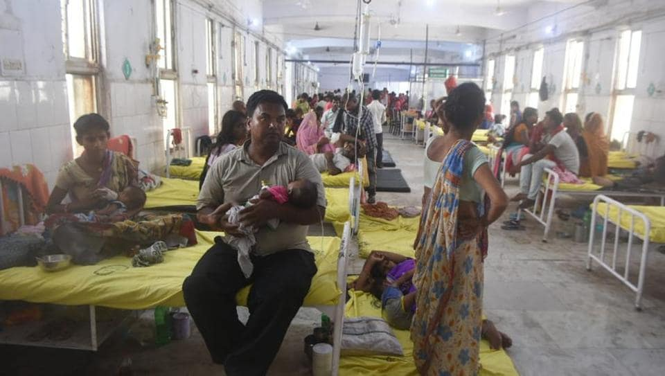 The suffered children of Acute Encephalitis Syndrome under treatment in the different ward of Sri Krishna Medical College and Hospital (SKMCH) 40 plus children have died in the last 10 days from a deadly brain disease in Muzaffarpur , India, on Thursday, June 13, 2019.