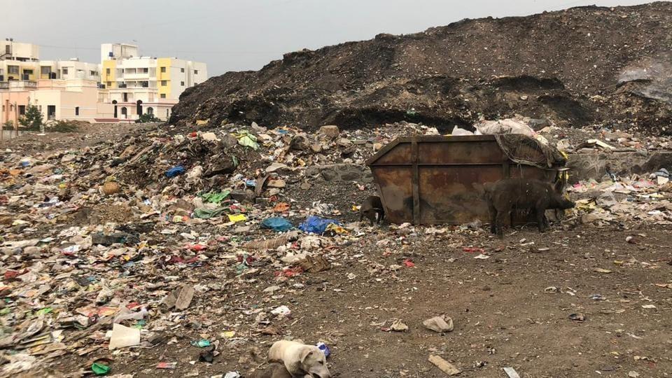 Pune,Wagholi,garbage