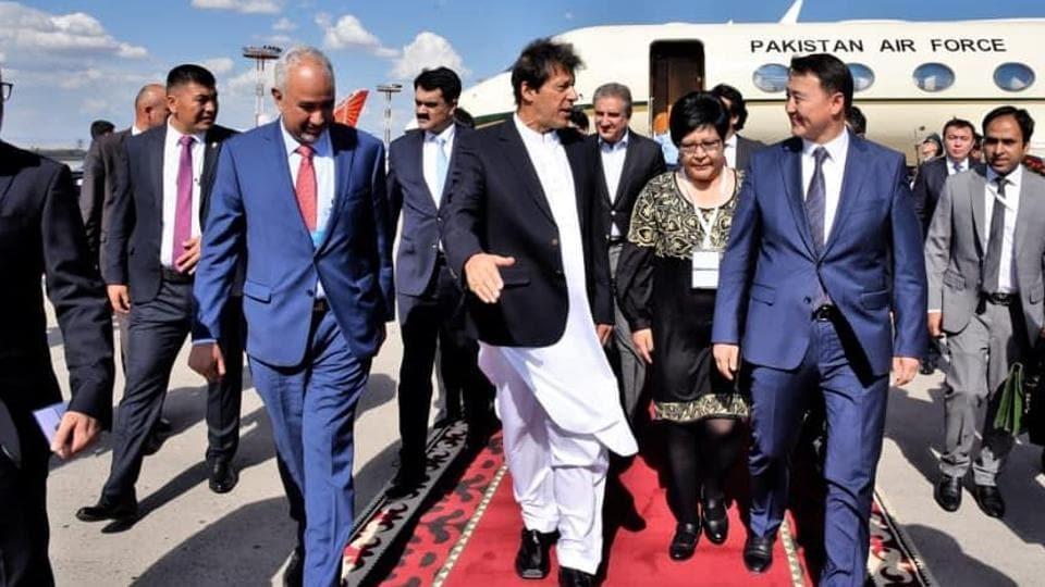 Pakistan PM Imran Khan lands in Bishkek for the SCO summit on June 13, 2019. (Photo: Govt of Pakistan/Twitter)