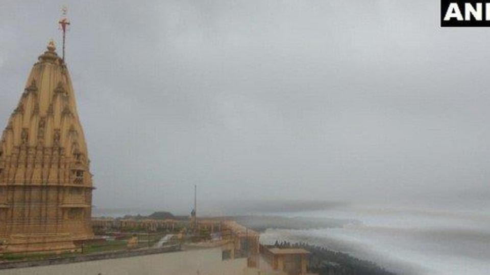 Somnath Temple,cyclone alert,coast of the Arabian Sea