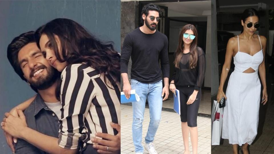 Deepika Padukone and Ranveer Singh's new pictures surface online, Ahan Shetty with Tara Sutaria and Malaika Arora spotted at a clinic in Mumbai.