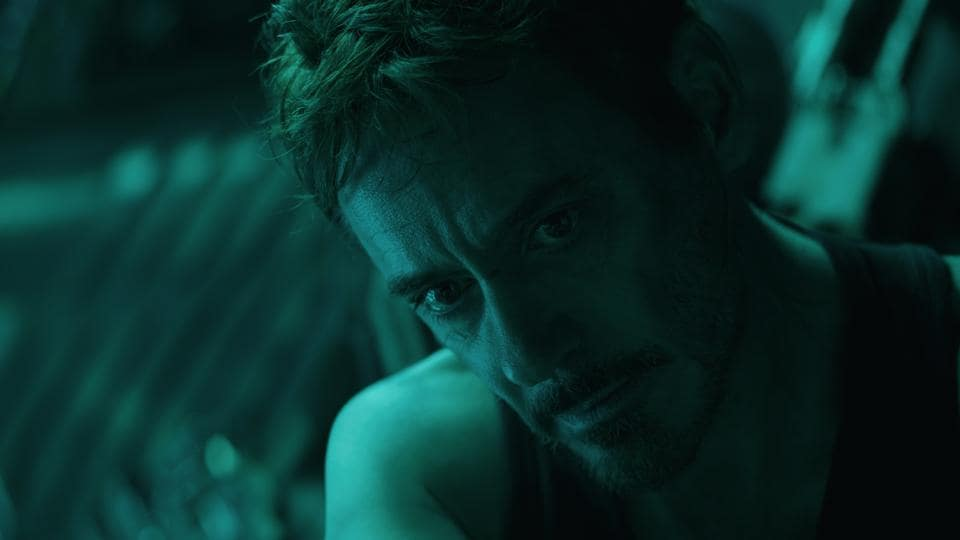 This image released by Disney shows Robert Downey Jr. in a scene from Avengers: Endgame.