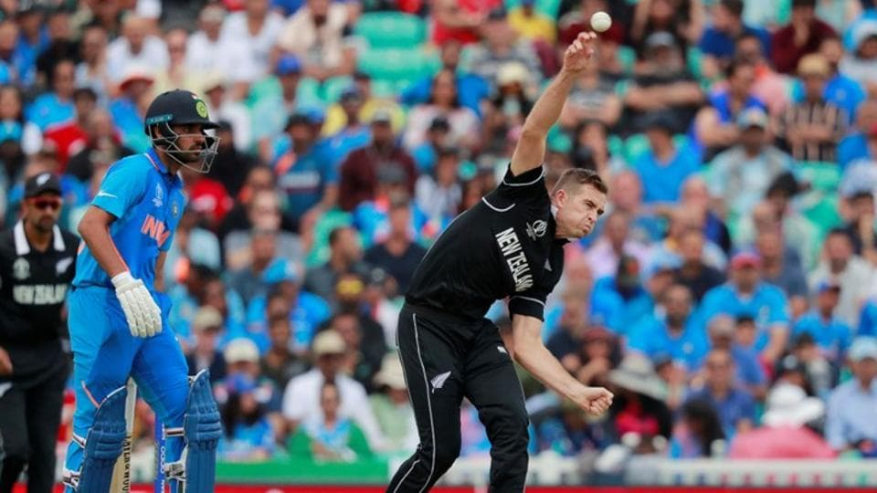 New Zealand's Tim Southee in action.