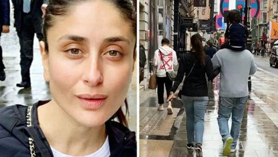 Kareena Kapoor is in London with husband Saif and son Taimur.