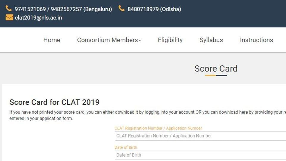 clat result,Common Law Admission Test,clat result 2019