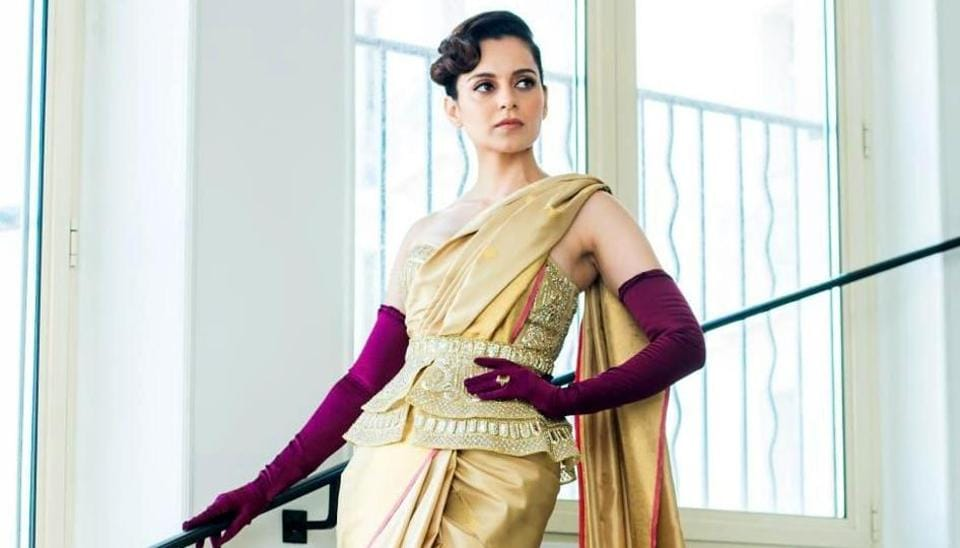 Kangana Ranaut ahead of her red carpet appearance at the Cannes Film Festival.