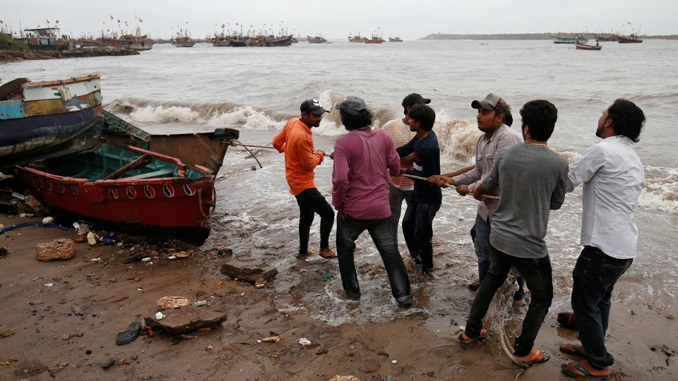 On Friday, Gujarat Chief Minister Vijay Rupani said cyclonic storm Vayu no longer posed any threat to the state as it had moved away westward. Following a meeting with top officials in Gandhinagar, Rupani asked the authorities to let around 2.75 lakh people who had been shifted to safety to return to their homes. (Amit Dave / REUTERS File)