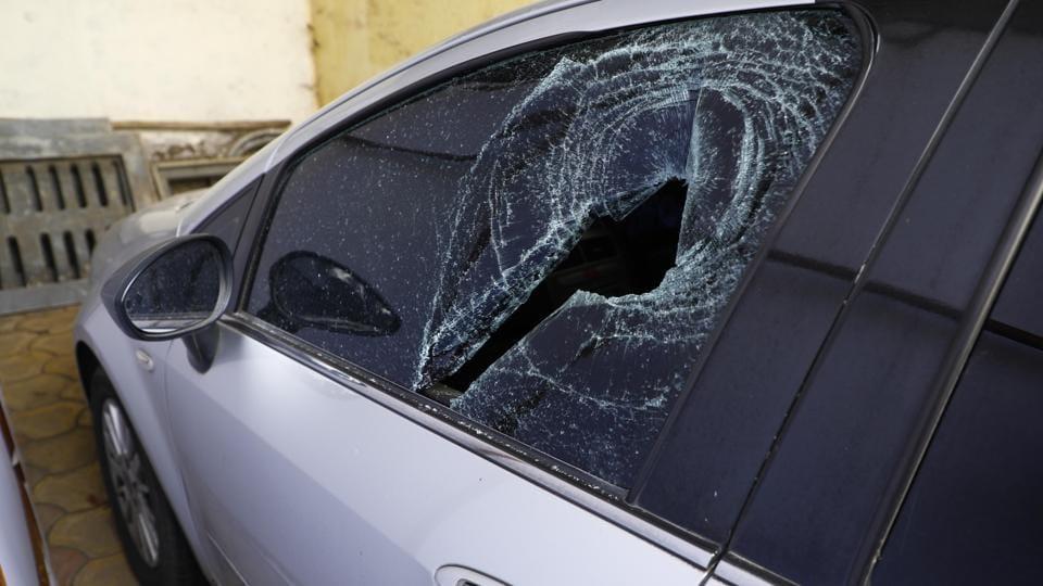 Pune,vehicles,damaged