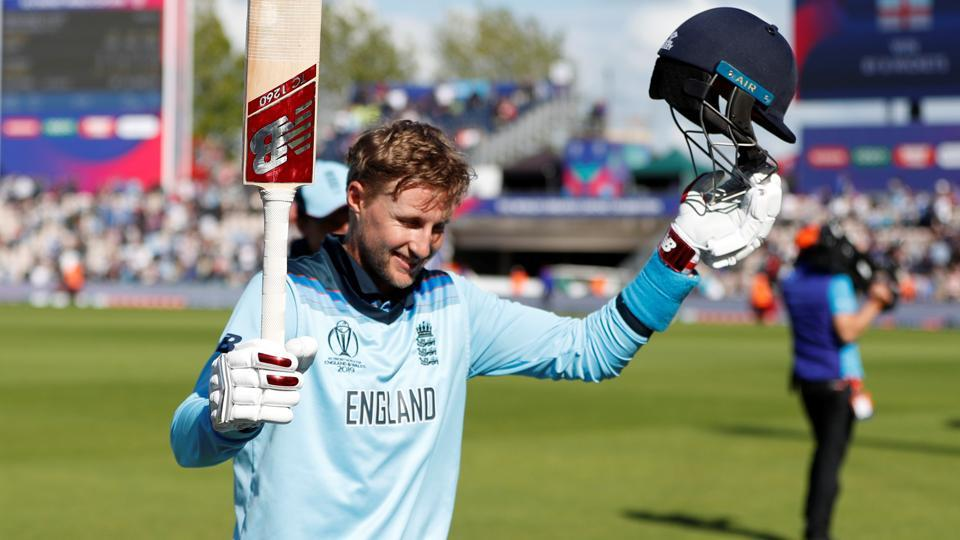 England's Joe Root celebrates after winning the match. (Action Images via Reuters)