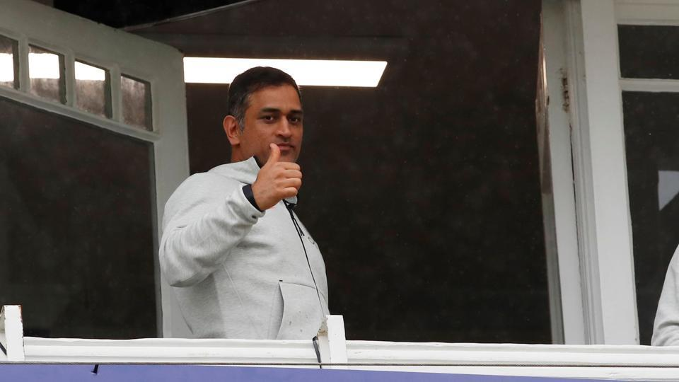ICC Cricket World Cup - India v New Zealand - Trent Bridge, Nottingham, Britain - June 13, 2019 India's MS Dhoni during a rain delay