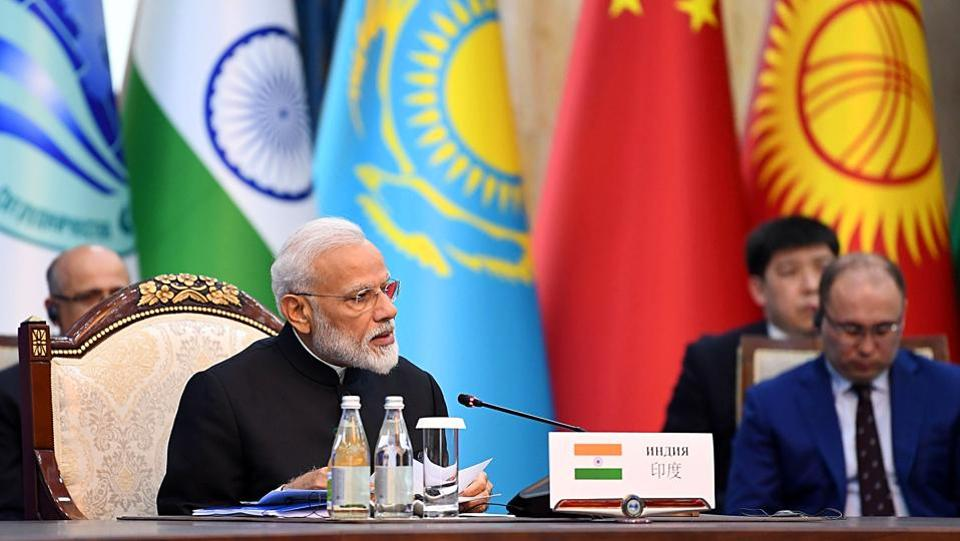 Prime Minister Narendra Modi during the Delegation level meeting of the Shanghai Cooperation Organization (SCO) Summit, in Bishkek. On Friday, Prime Minister Narendra Modi said that countries sponsoring, aiding and funding terrorism must be held accountable as he called for a global conference to combat the menace. Addressing the Shanghai Cooperation Organisation (SCO) Summit here, Modi highlighted the spirit and ideals of the SCO to strengthen cooperation in the fight against terrorism. (ANI)