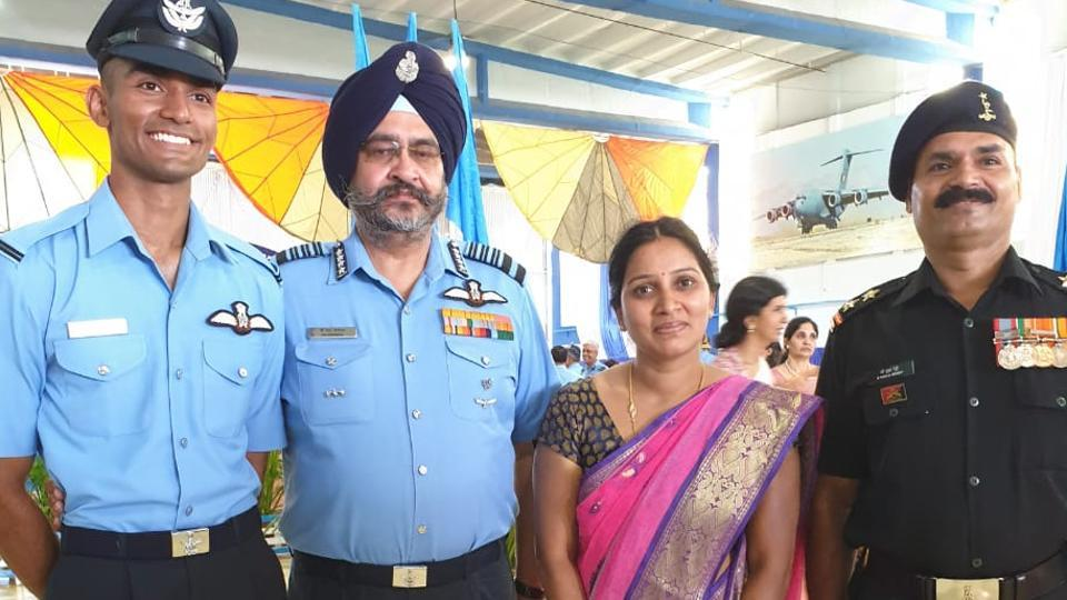 IAF chief BS Dhanoa gifts his 'wings' to new flying officer | india