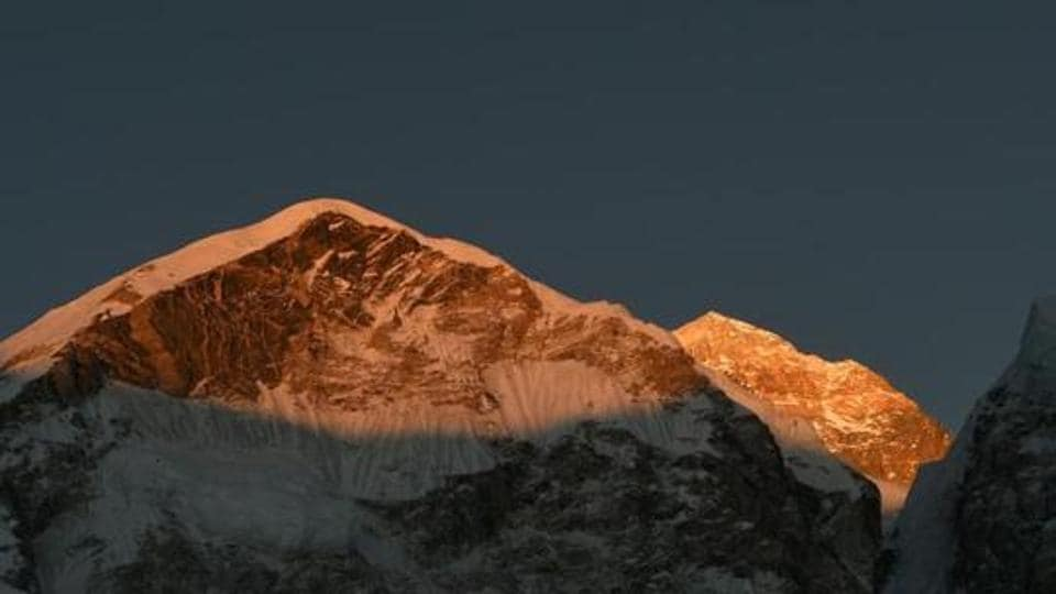 This file photo taken on April 22, 2018 shows Mount Everest in the Himalayas, some 140km northeast of the Nepali capital Kathmandu.