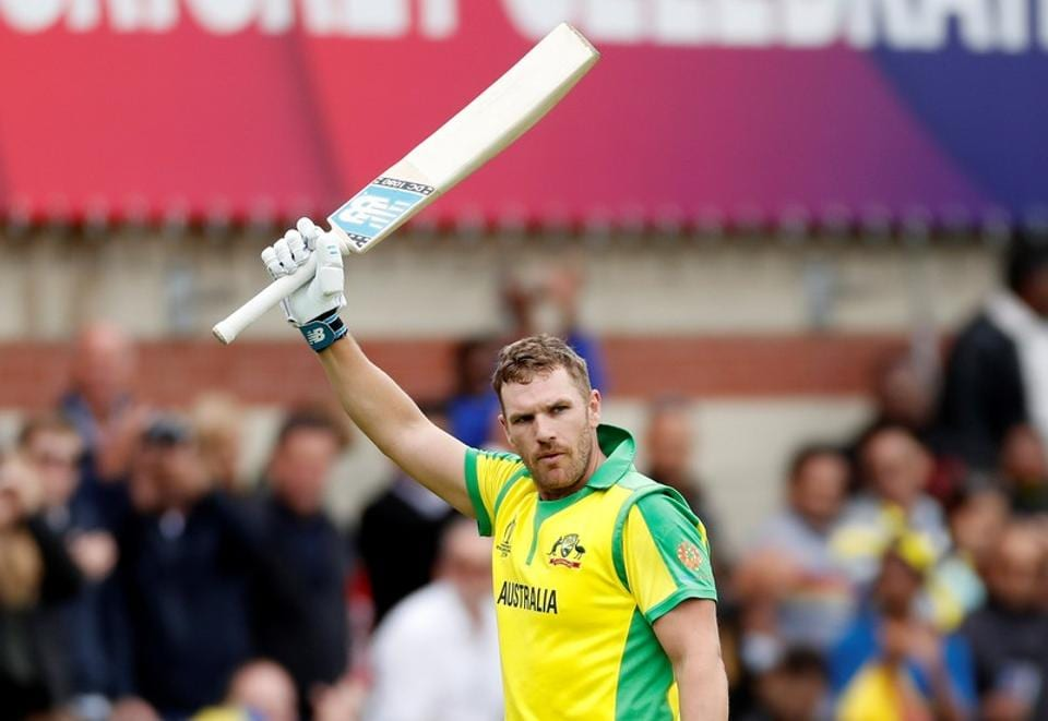 Australia's Aaron Finch acknowledges fans after losing his wicket. (Action Images via Reuters)
