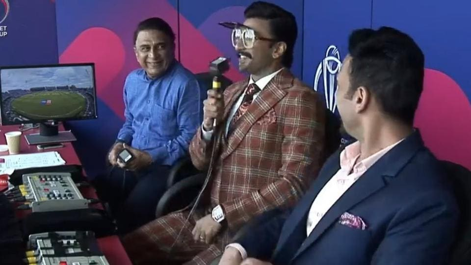 Ranveer Singh turns commentator for the India Pakistan match in World Cup 2019.