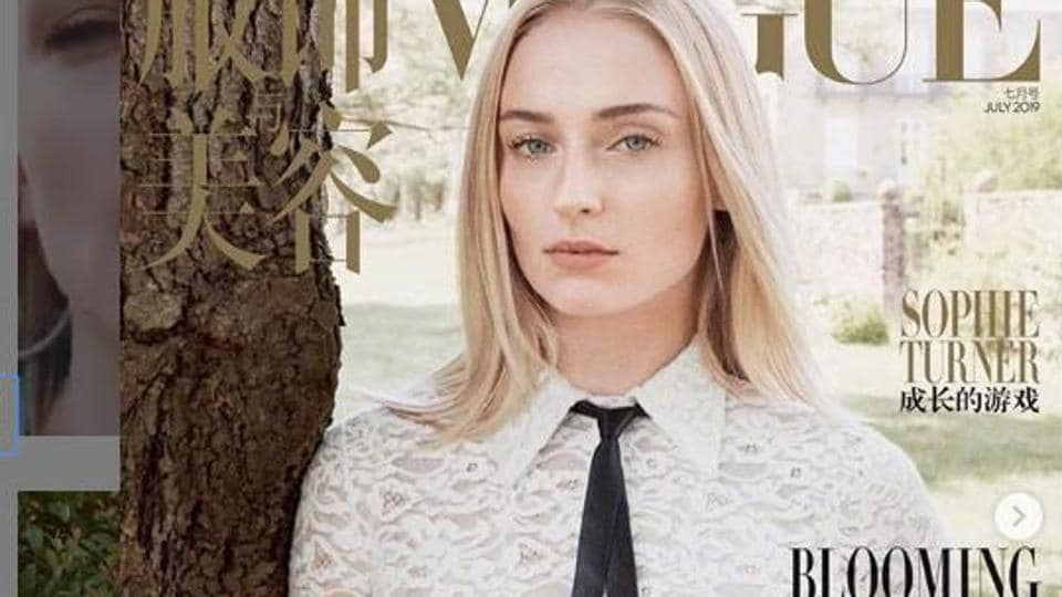 Sophie Turner on the Vogue China cover.