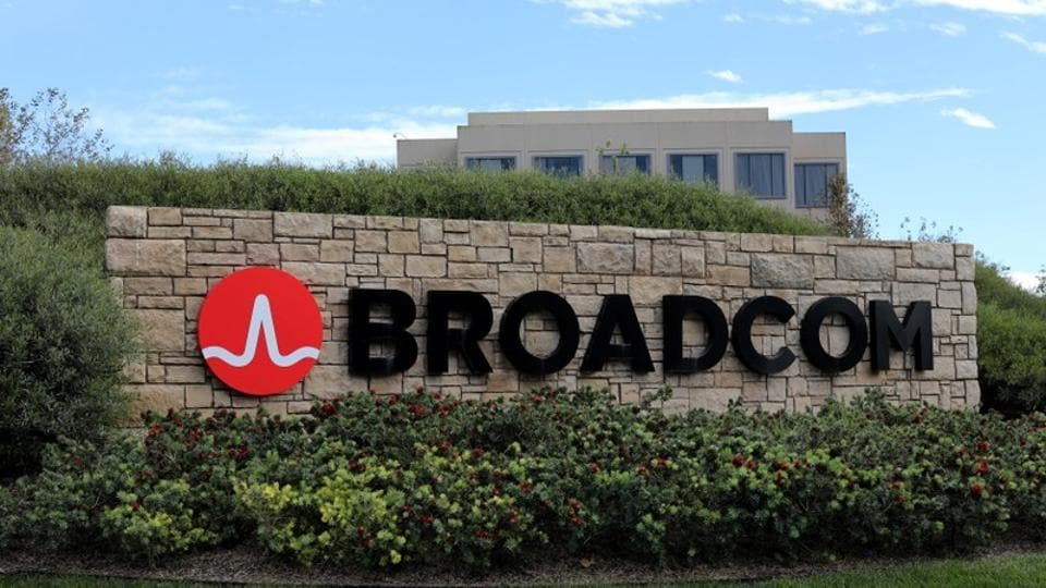 A sign to the campus offices of chip maker Broadcom Ltd, who announced on Monday an unsolicited bid to buy peer Qualcomm Inc for $103 billion, is shown in Irvine, California, U.S., November 6, 2017. REUTERS/Mike Blake