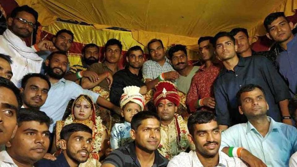 Shashikala had lost her brother several months ago, but when she got married a few days ago, she had 50 brothers giving her a unique bidayee from her parents' home.